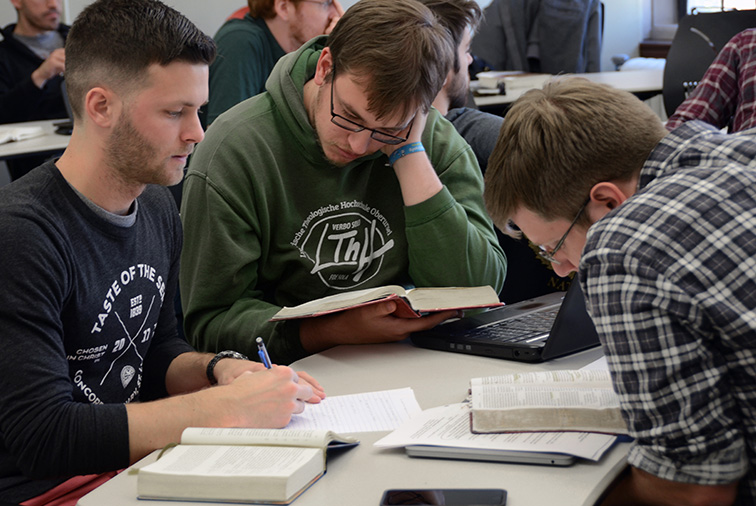 Visit classes at Concordia Seminary, St. Louis